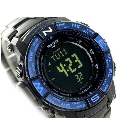 Casio Protrek Prw 3500syt 1dr Black Blue casio pro trek prw 3500syt 1jf multi field blue moment