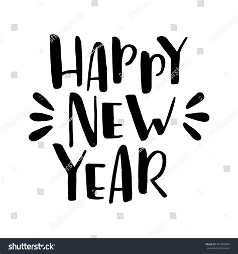 new year calligraphy vector free happy new year vector lettering seasonal