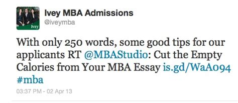 Mba Essay Tips And Tricks by Ivey Mbathe Mba Admissions Studio