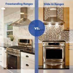 Slide in ranges vs freestanding ranges