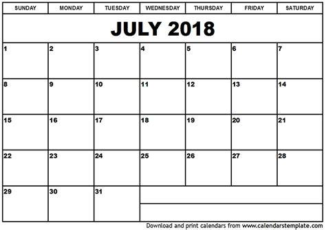 printable july 2018 calendar july 2018 calendar printable word journalingsage com