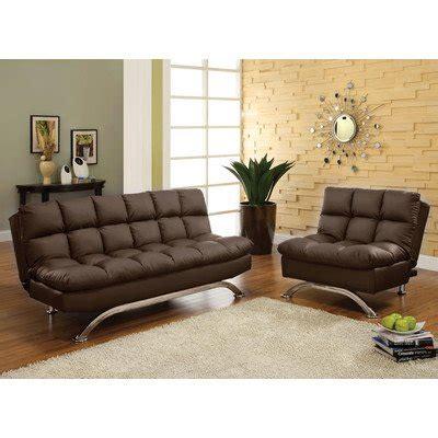 espresso colored leather sofa aristo bi cast leather convertible sofa and chair set