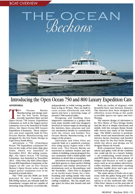the open boat published two oceans the open ocean 750 and 800e ski boat magazine