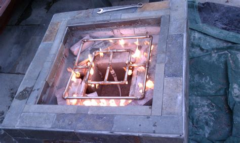 diy gas pit fireplace design ideas