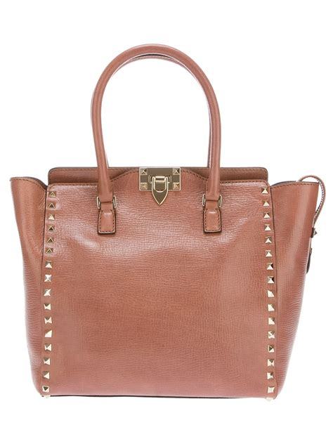 Valentino Studded Tote by Valentino Studded Tote In Pink Lyst