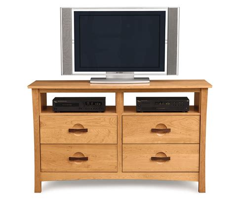 bedroom tv stand with drawers copeland furniture natural hardwood furniture from