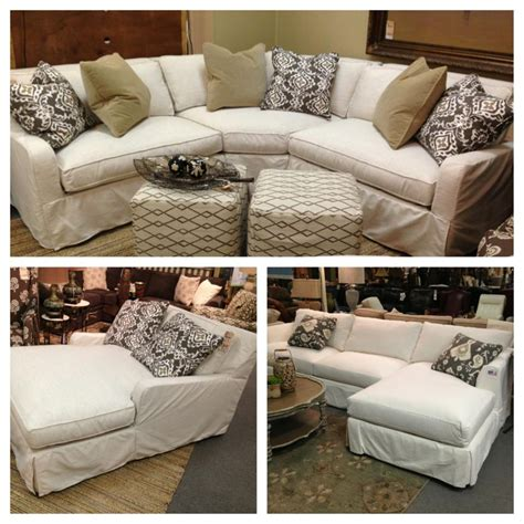 sectional with chaise slipcovers robin bruce havens slipcover sofa now available as