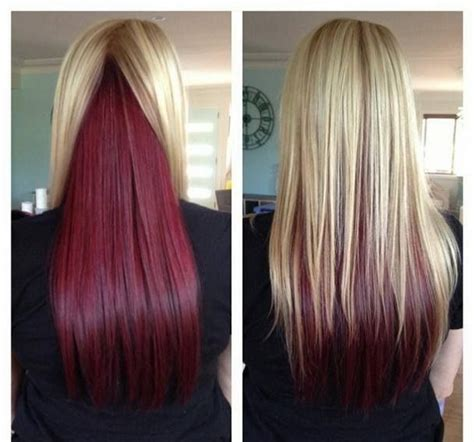 hair color on bottom bottom half hair color hair color underneath best 25
