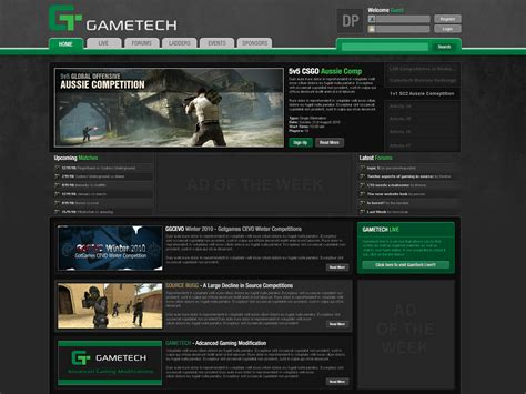 templates for gaming website gaming website template design 16 by columaes on deviantart