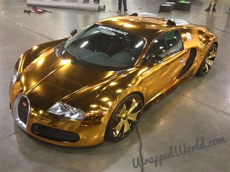 car bugatti gold bugatti veyron gold wrapped for us rapper flo rida photos