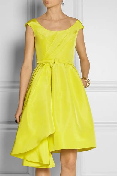 Friday Afternoon Dresses From Net A Porter by Oscar De La Renta Silk Faille Dress Net A Porter