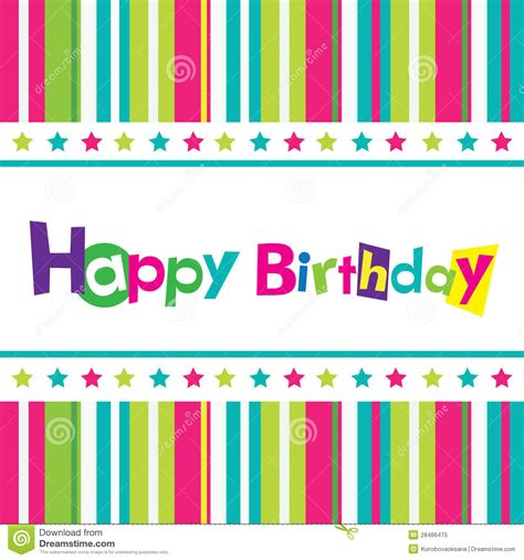 happy birthday banner design vector free download vector happy birthday card stock vector illustration of