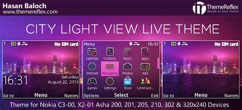 themes love nokia 210 city light view theme for nokia c3 x2 01 asha 200 201