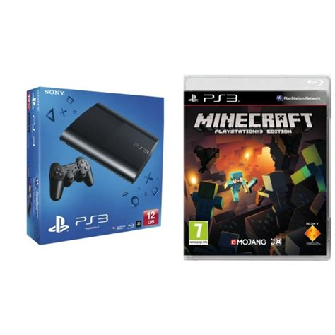 minecraft console ps3 sony playstation 3 12gb with minecraft bundle