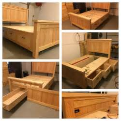 Bed Frame With Storage Design Fabulous Size Bed Frame With Drawers Diy Storage