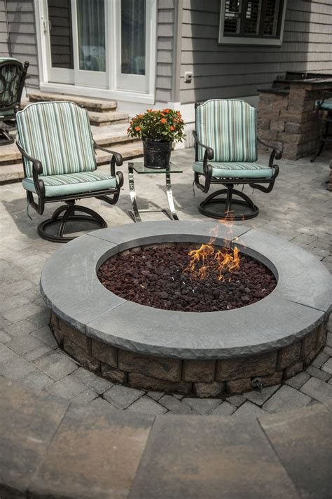 Highland Stone Firepit Kit Color Jefferson Outdoor Firepit Kit