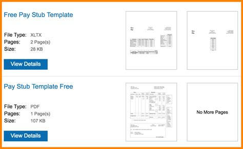 6 Paycheck Stub Template Microsoft Word Sles Of Paystubs Pay Stub Template Word