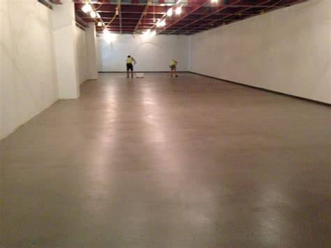 A decorative waxed concrete floor at The National