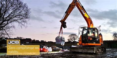 zero tail swing the new jcb jz140lc zero tail swing excavator video