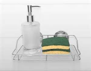kitchen sink sponge soap holder stainless steel shelves