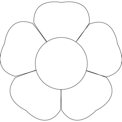 best photos of 7 petal flower template paper printable