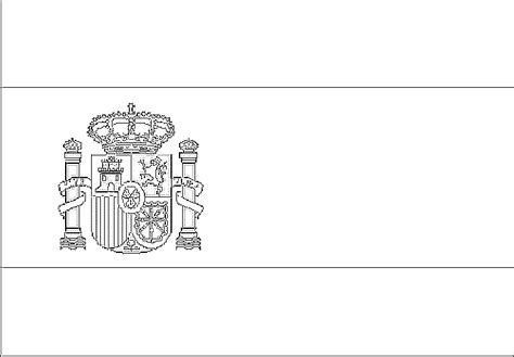 Free Coloring Pages Of Spain Flag Of Spain Coloring Page