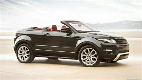 land rover evoque black convertible car land rover evoque convertible concept black wallpaper