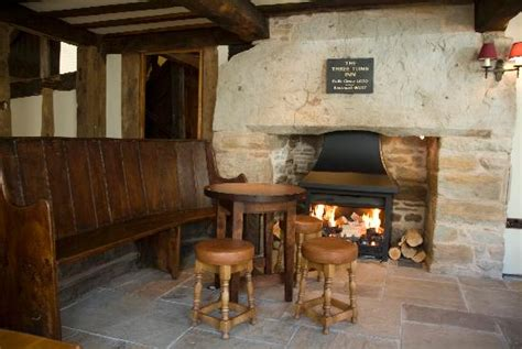United Airlines Booking huge inglenook fireplaces picture of three tuns hay on