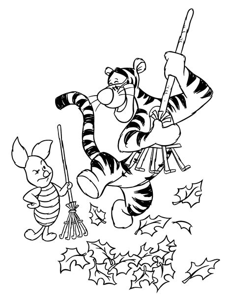 winnie the pooh coloring page autumn free coloring pages of pooh friends fall