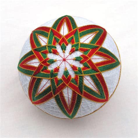 Handmade Balls Ornaments - temari ornament japanese thread