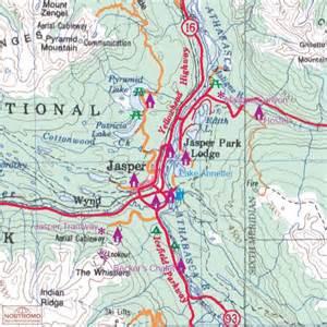 jasper national park canada map jasper national park northern alberta carte