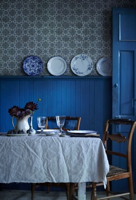 Blue Wainscoting by Blue Painted Wainscoting Home