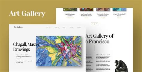 arte responsive art gallery wordpress theme