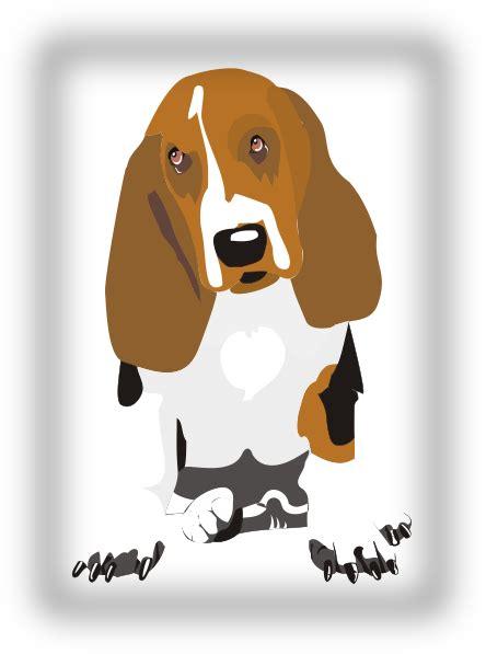 sitting beagle clip art  clkercom vector clip art