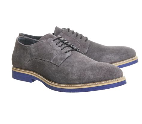 trend classic suede derby grey ask the missus denver derby grey suede blue sole casual