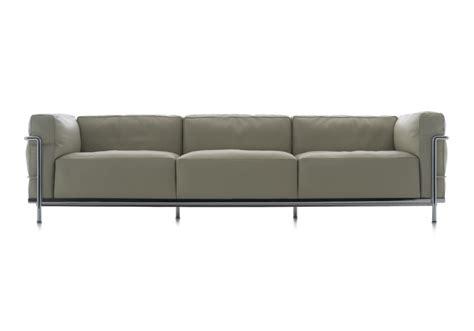lc3 sofa lc3 three seater sofa cassina milia shop