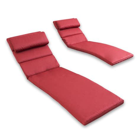 lowes chaise cushions shop rst brands cantina red solid standard patio chair