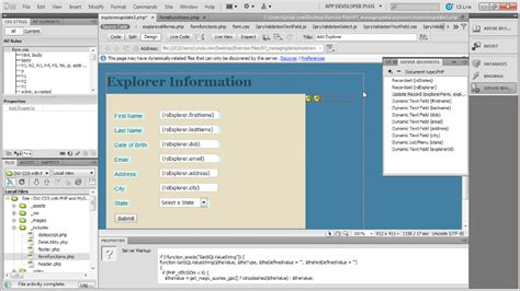 dreamweaver tutorial with php dreamweaver with php and mysql