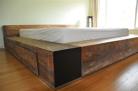 Bed Frames Toronto Wood Environment Furniture Luxury Reclaimed Wood Platform Bed