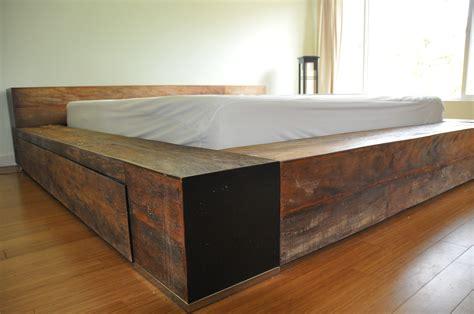 Furniture luxury reclaimed wood platform bed movingsale90272
