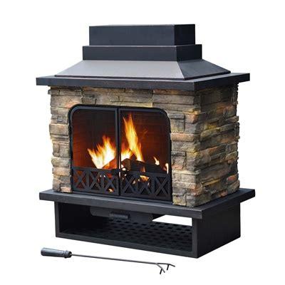 sunjoy 110504007 farmington outdoor fireplace lowe s canada