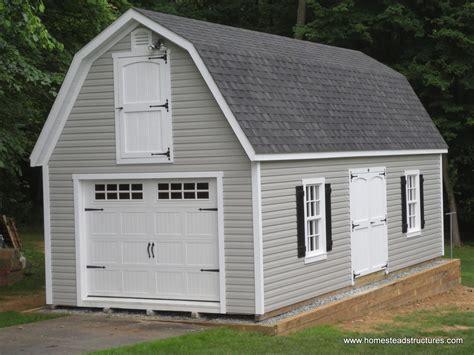 dutch barn plans 1 car single wide garages homestead structures