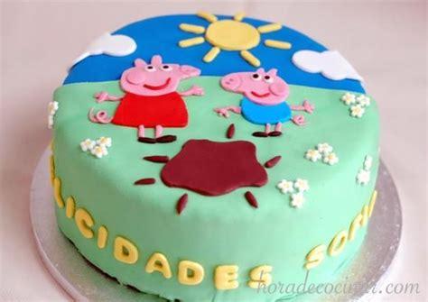 imagenes cumpleaños tartas tarta fondant de cumpleaa os peppa pig horadecocinar com