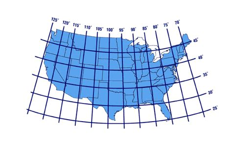 america map longitude latitude lines latitude and longitude