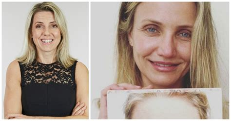 make up for a 43 year old the cameron diaz make up free selfie that made us cheer