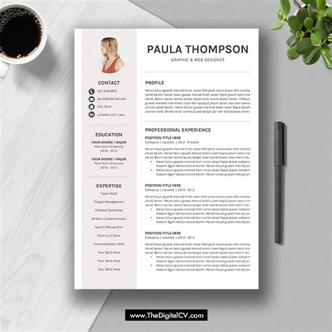 modern resume template word free resume templates download inside