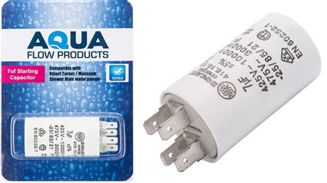 icar ecofill capacitor 7uf 7uf start capacitor for stuart turner pumps starting capacitors