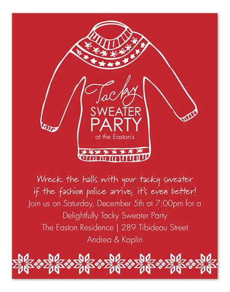 is it tacky to print labels for wedding invitations tacky sweater invitations by invitation