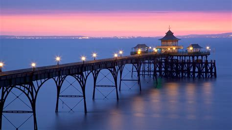 clevedon pier clevedon somerset england uk  nick cablagetty images bing wallpapers