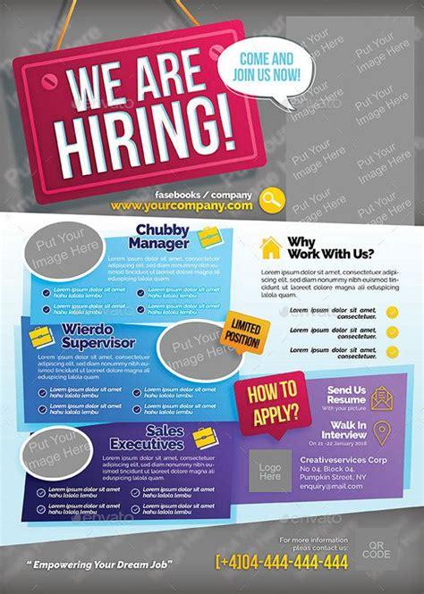 flyer design jobs 13 recruitment flyers design trends premium psd